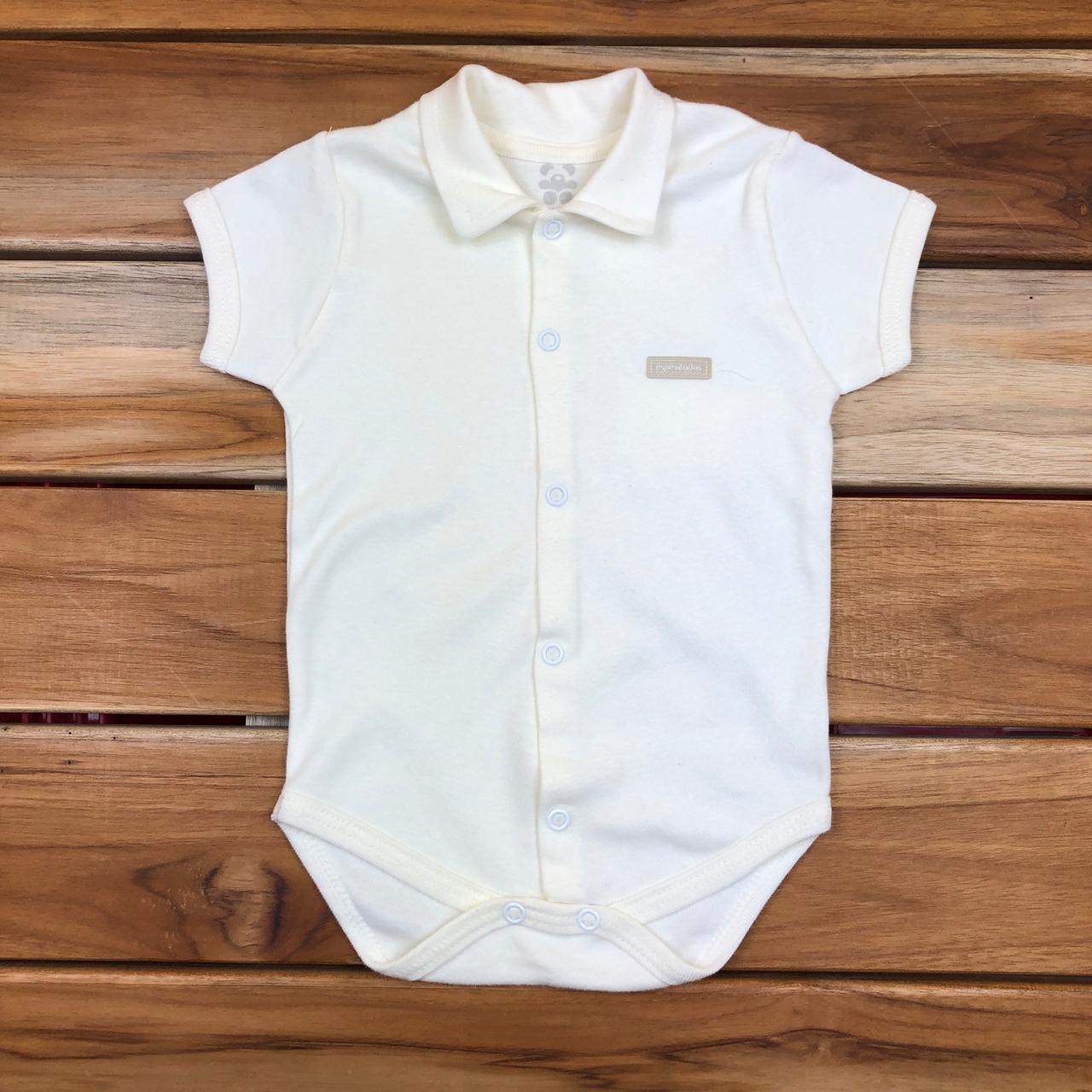 Body Curto Bebê Cru Neutro
