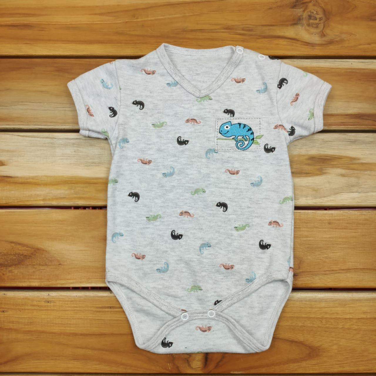 Body Curto Bebê Mescla de Bichinhos