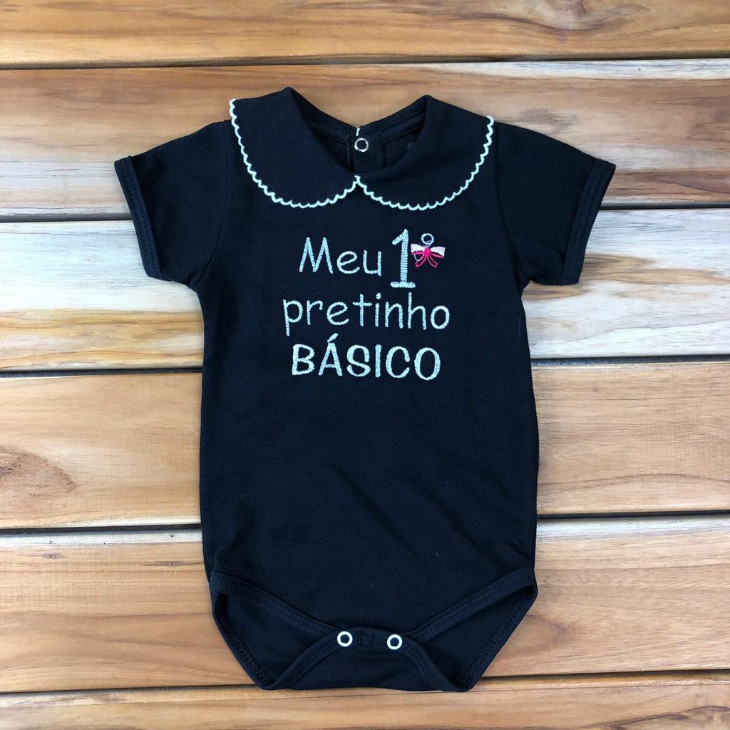 Body Curto Bebê Preto
