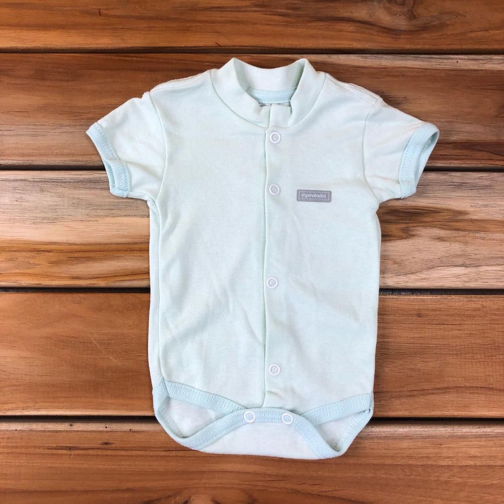 Body Curto Bebê Verde Neutro