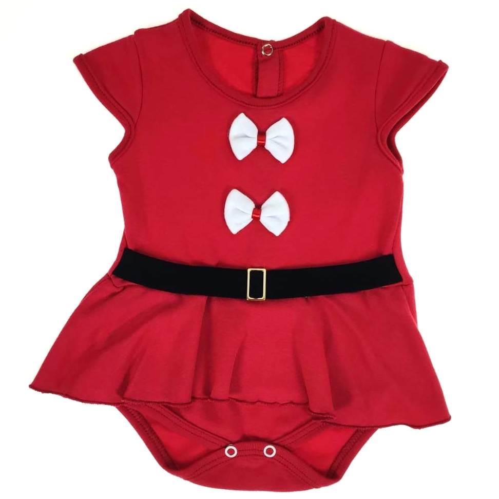 Body Curto Bebê Comemorativo do Natal Vermelho #BOASFESTAS