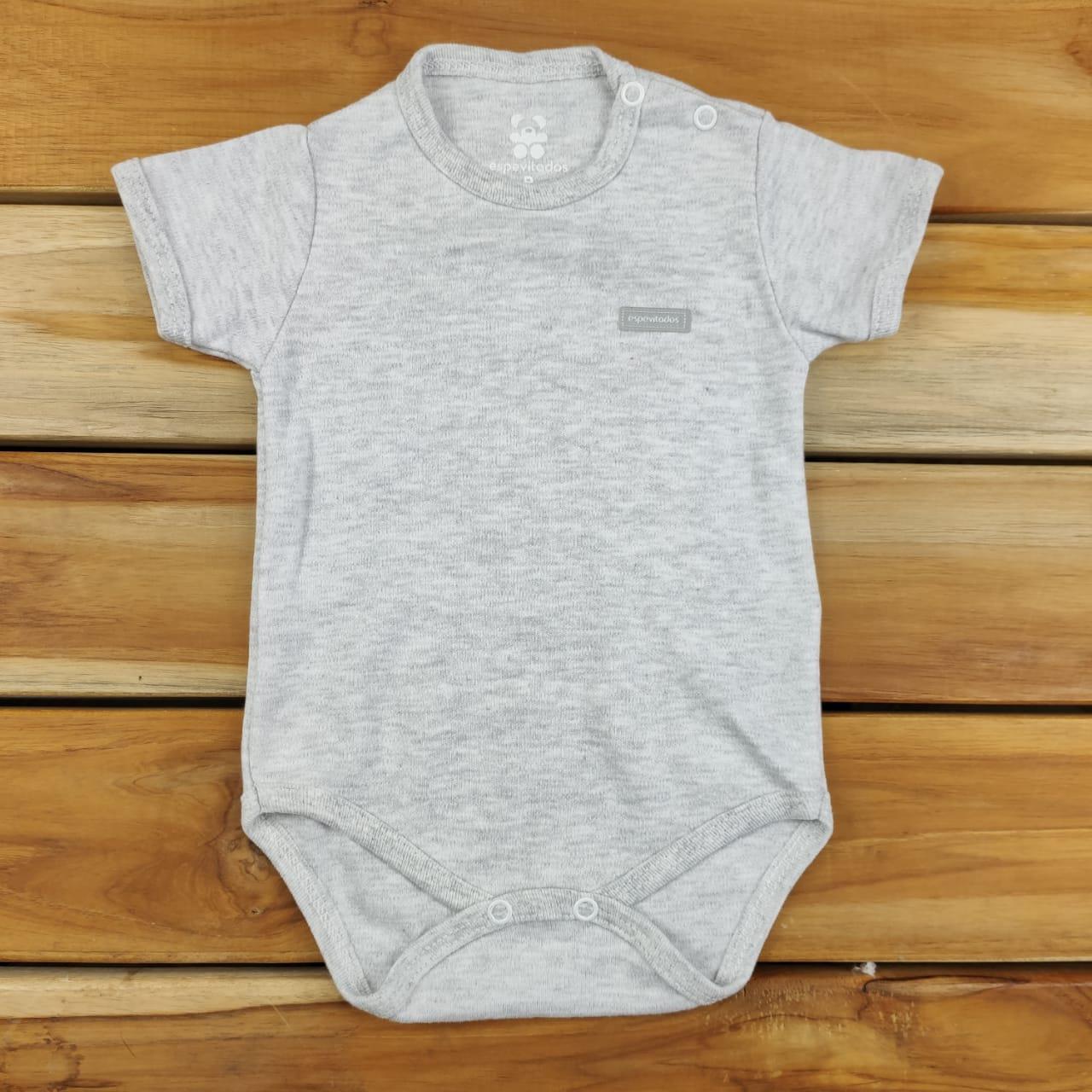 Body Curto Bebê Mescla Liso