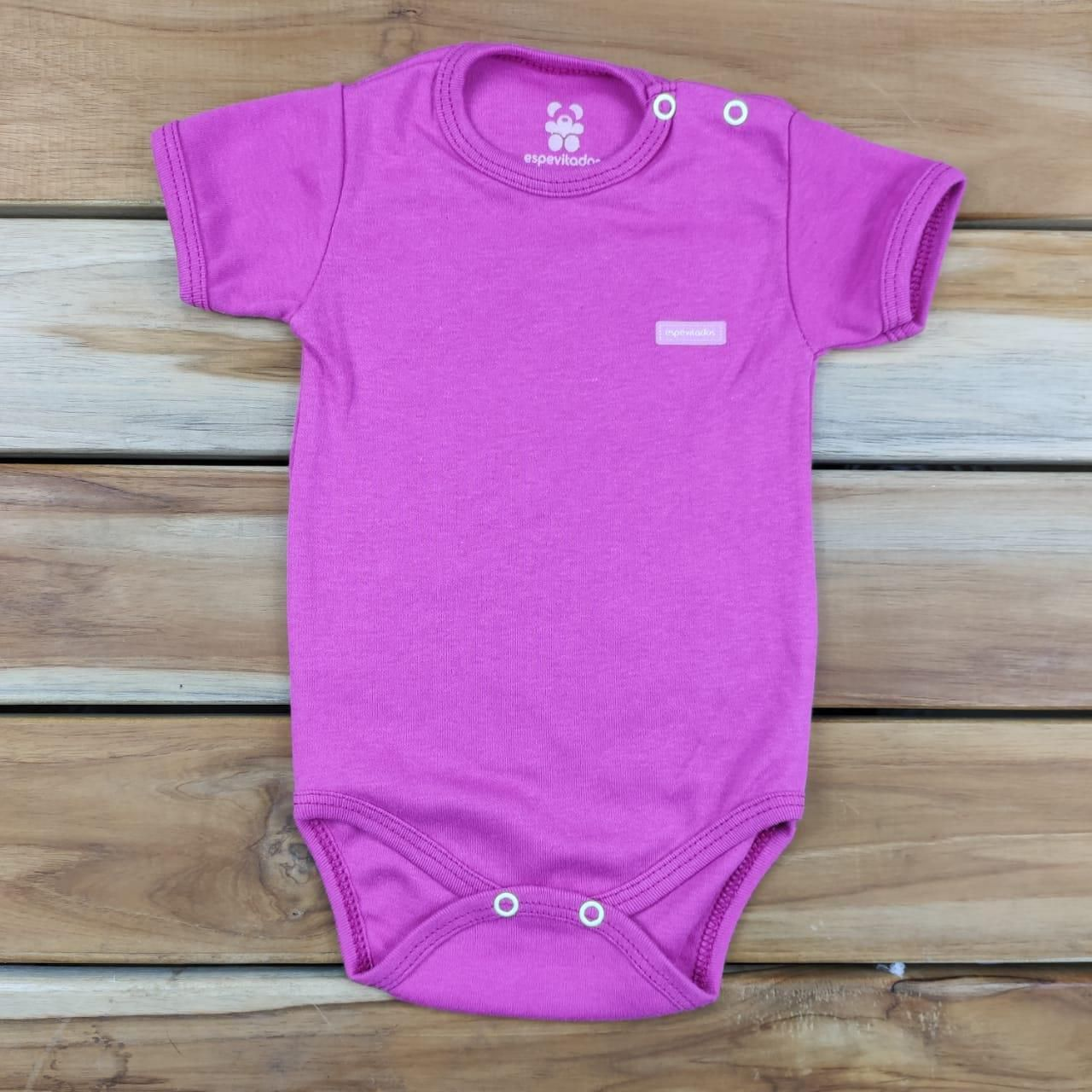 Body Curto Bebê Pink Liso
