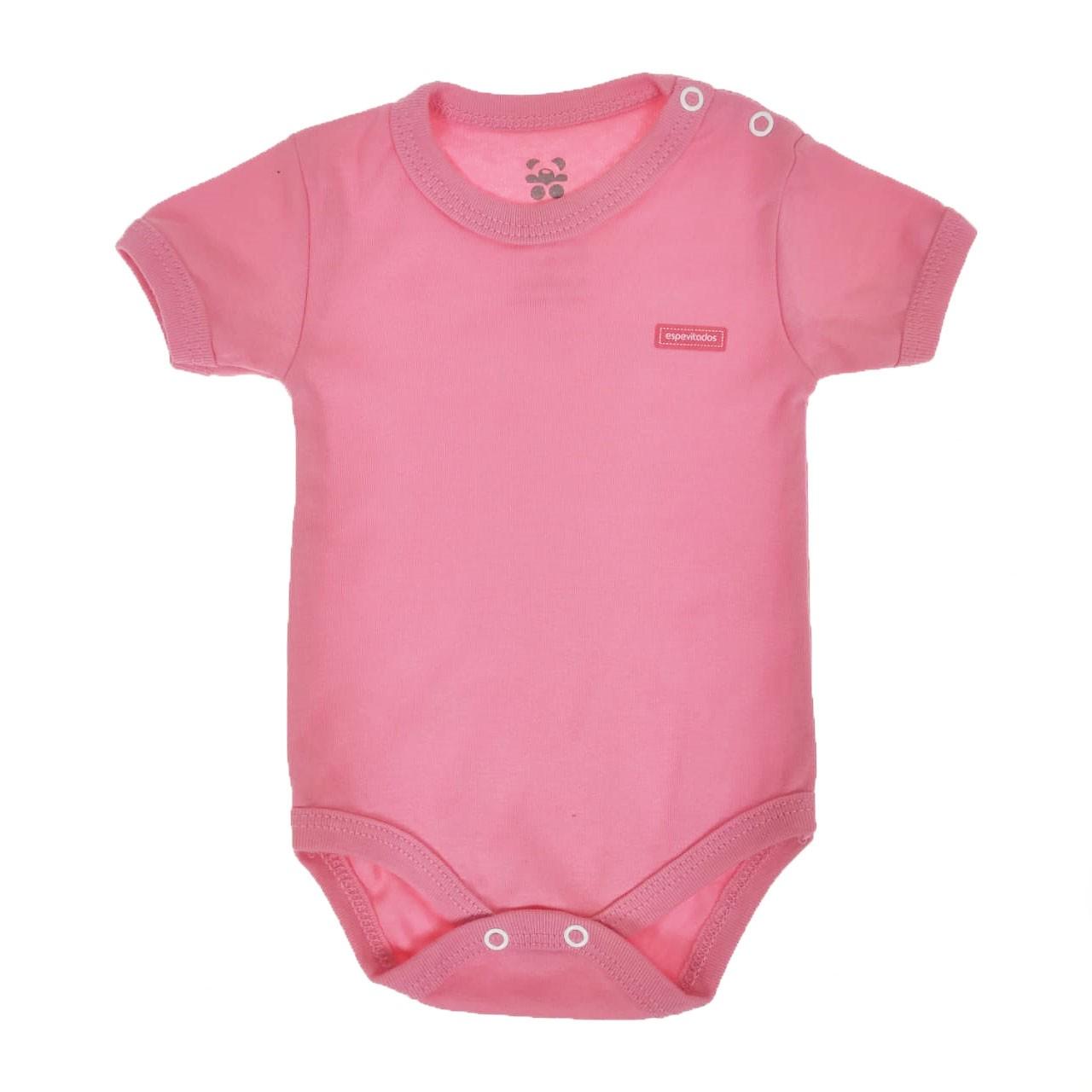 Body Curto Bebê Rosa Liso