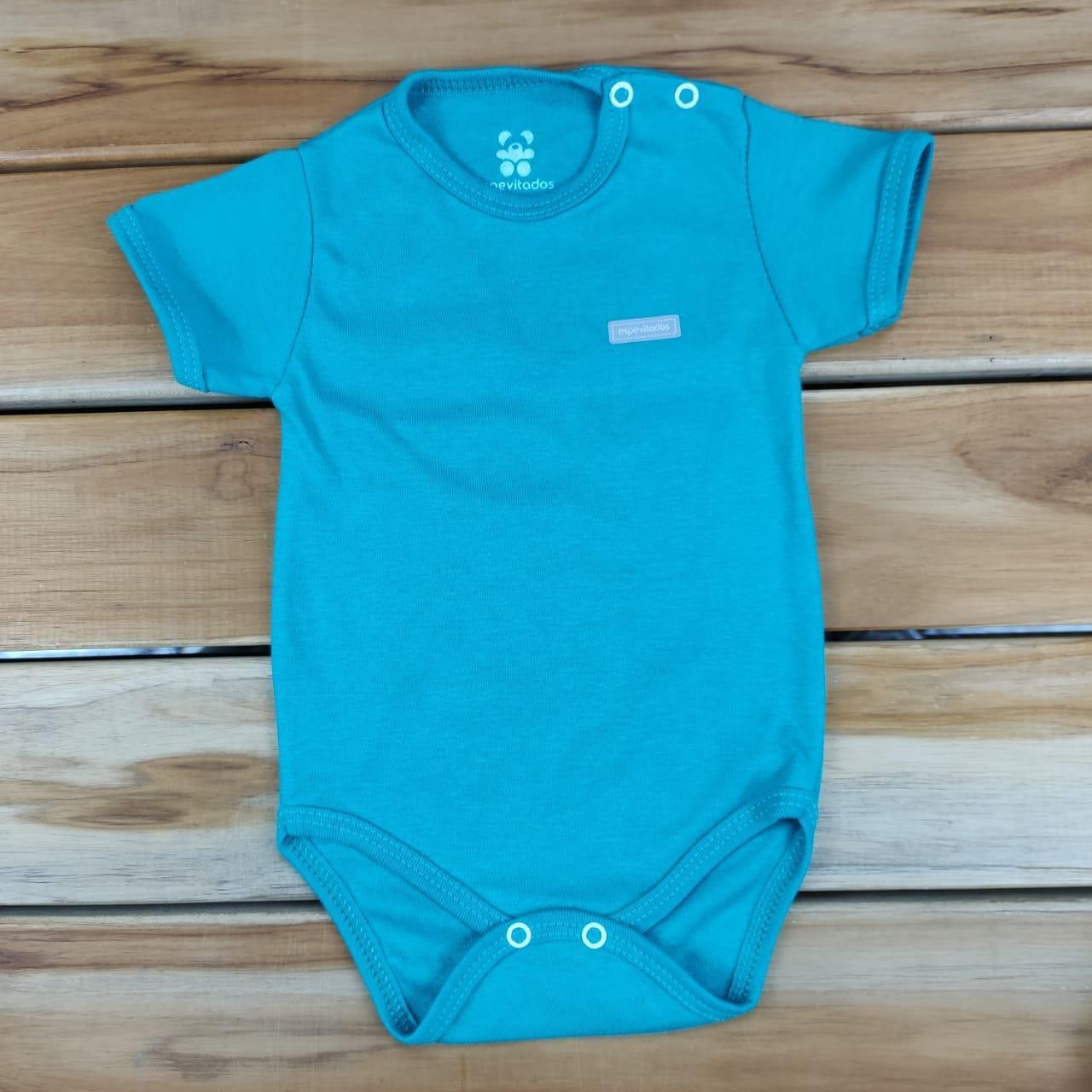 Body Curto Bebê Verde Liso