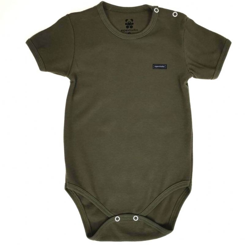 Body Curto Bebê Verde Militar Liso