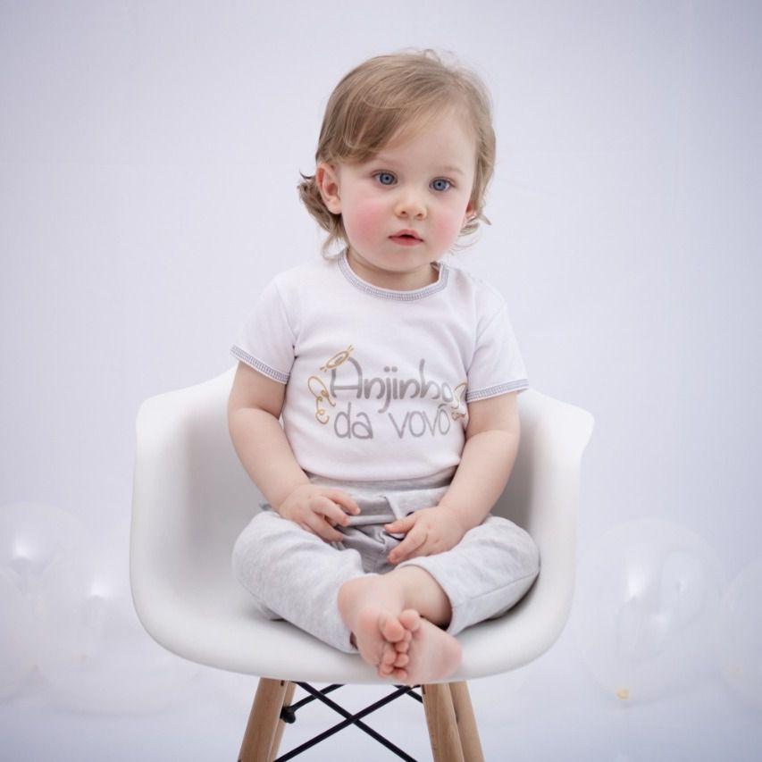 Body Curto Comemorativo Bebê Branco Vovó