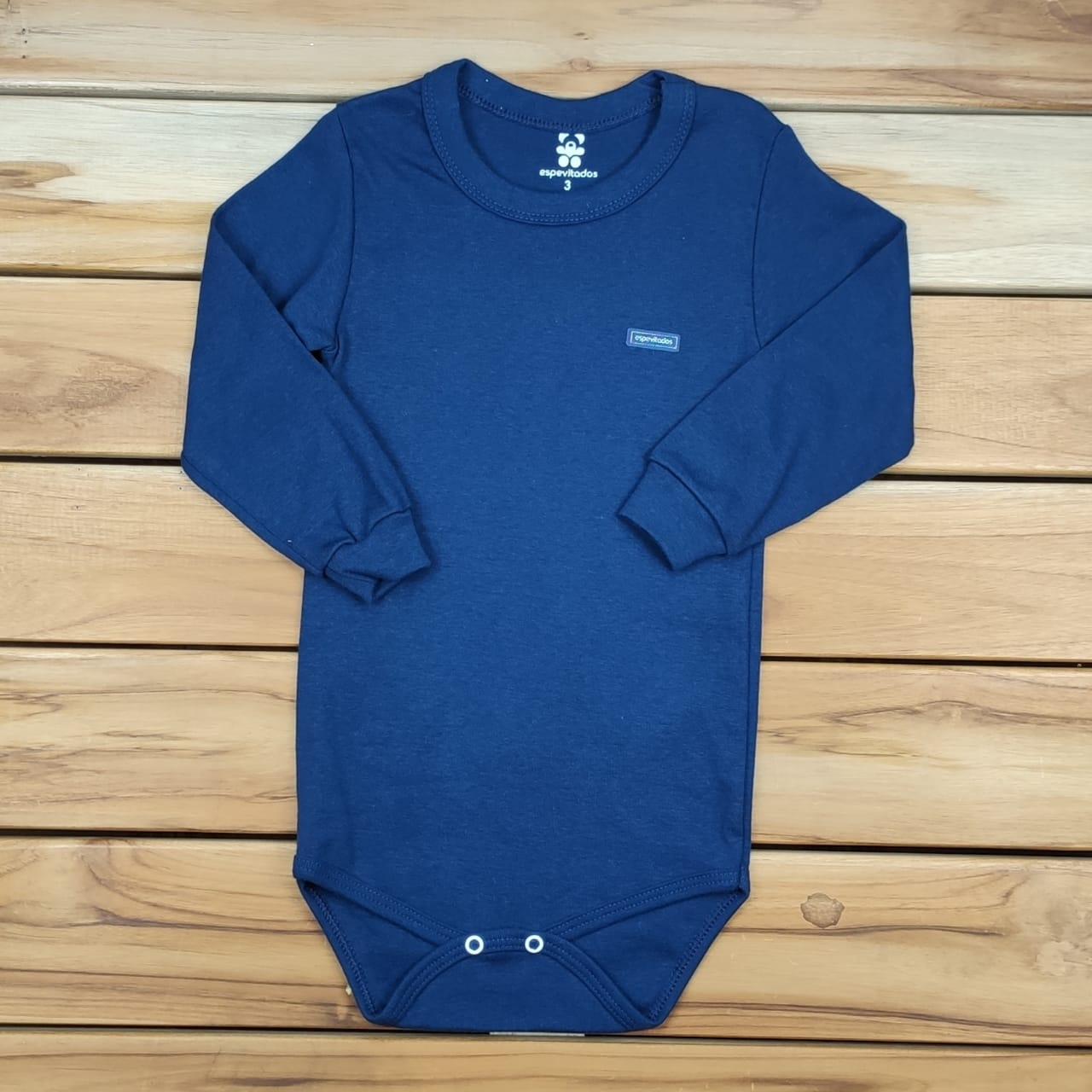 Body Infantil Liso Azul Marinho