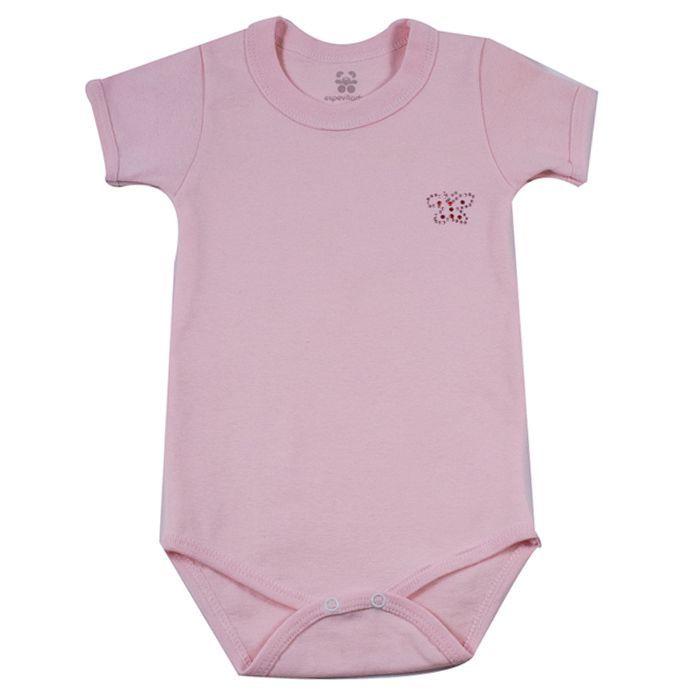 Body Infantil Curto Rosa