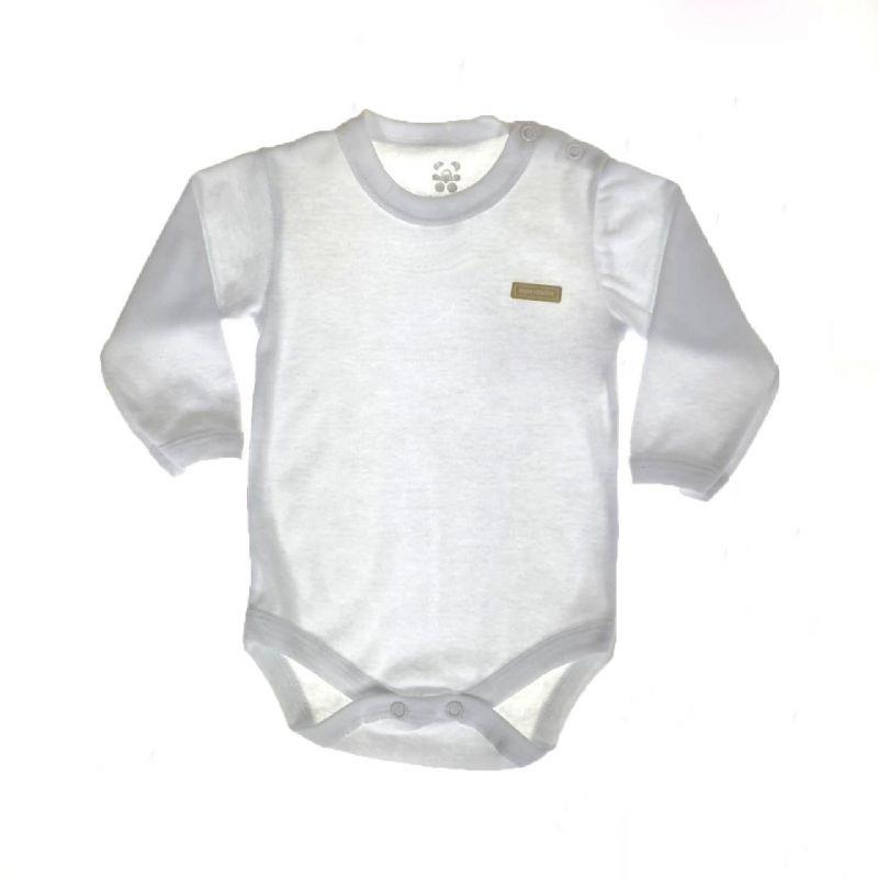 Body Longo Bebê Branco Neutro
