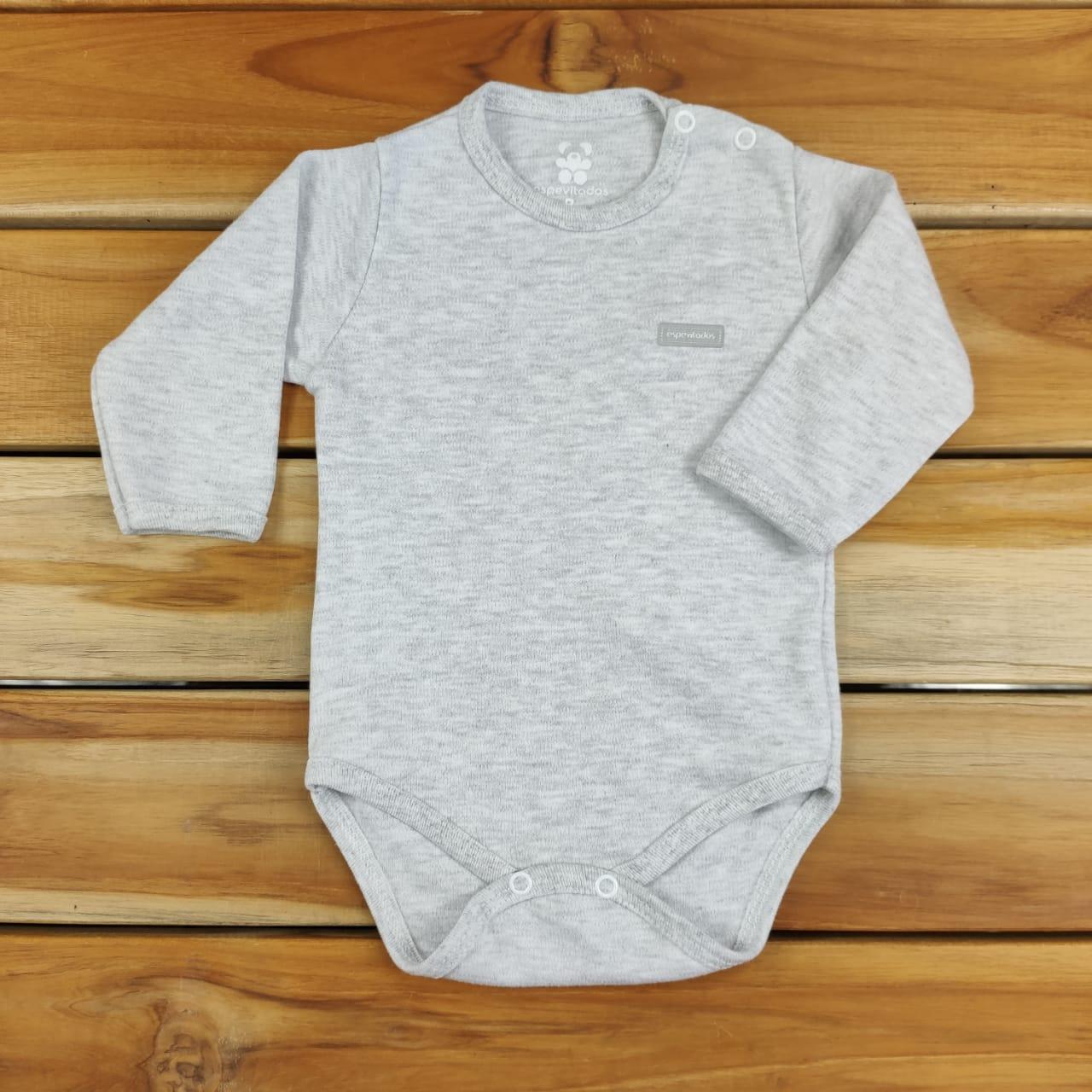 Body Longo Bebê Mescla Liso