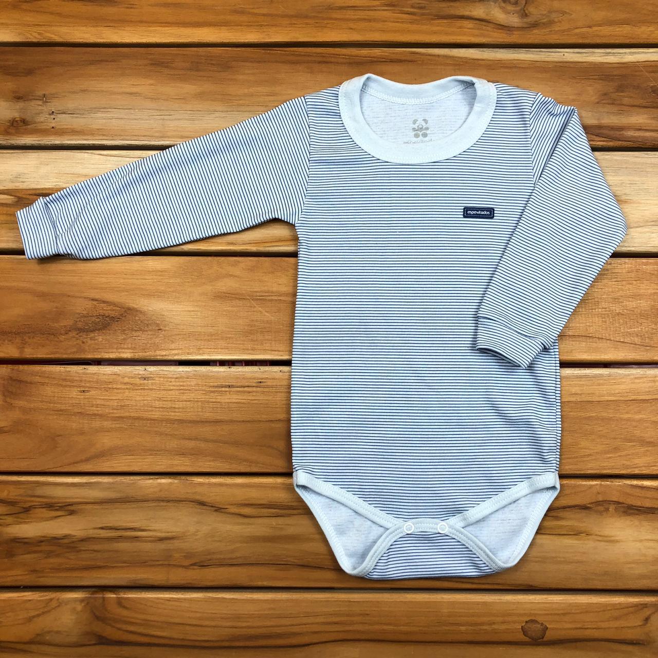 Body Longo Infantil Azul