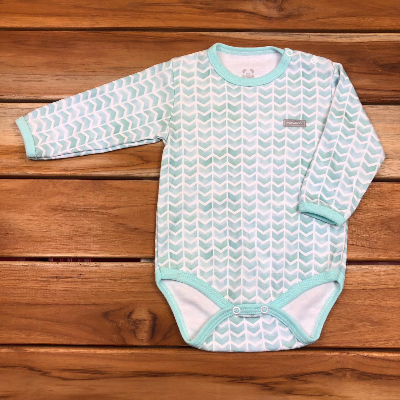 Body Longo Neutro Bebê Verde