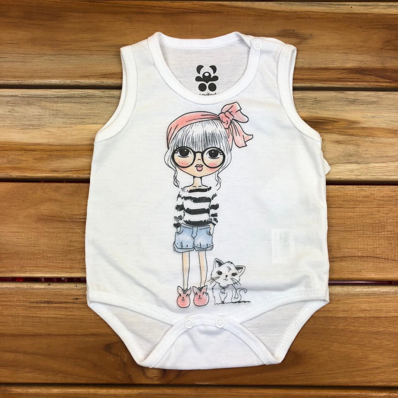 Body Regata Infantill Branco
