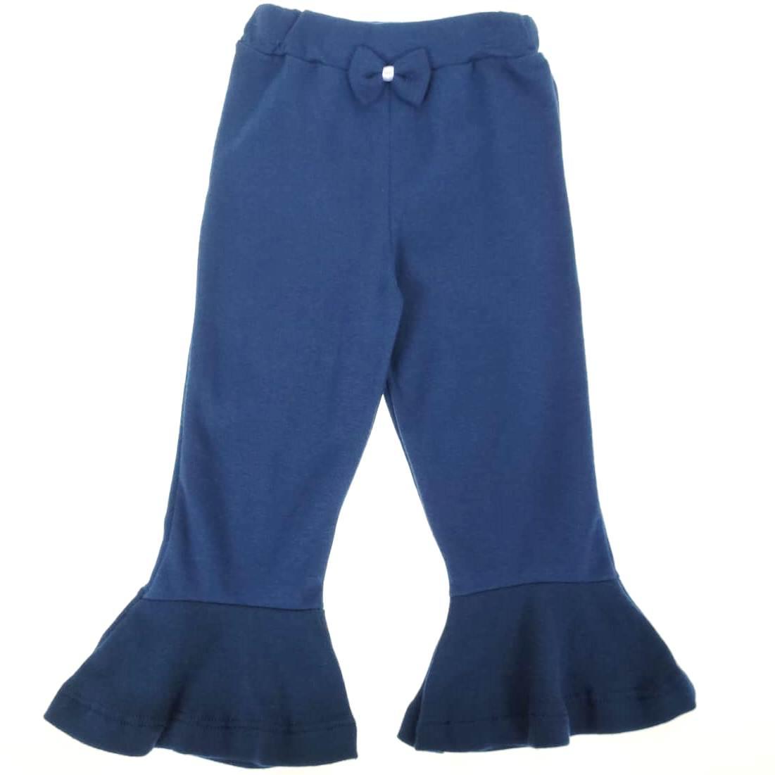 Calça Flare Azul Marinho com Laço
