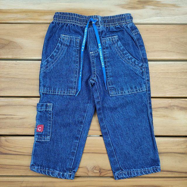 Calça Jeans com Bolso Lateral ABC