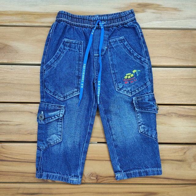 Calça Jeans com Bordado