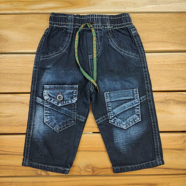 Calça Jeans Escura com Bolso