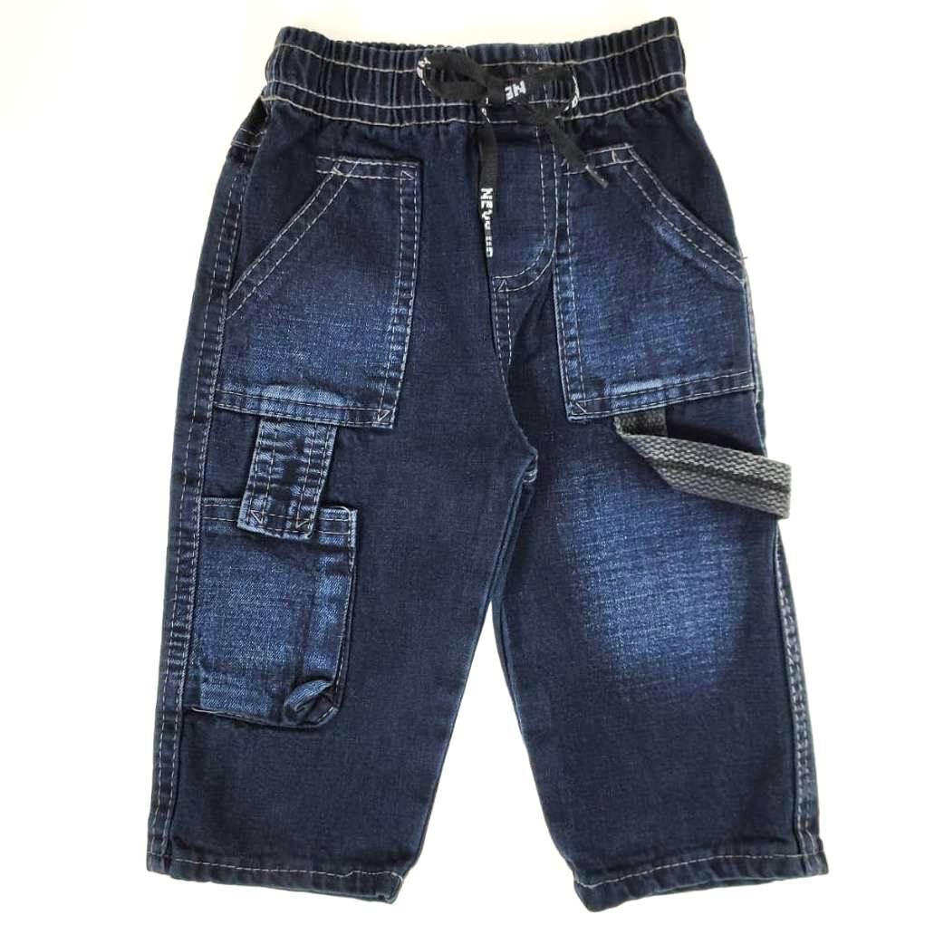 Calça Jeans Escura com Detalhe