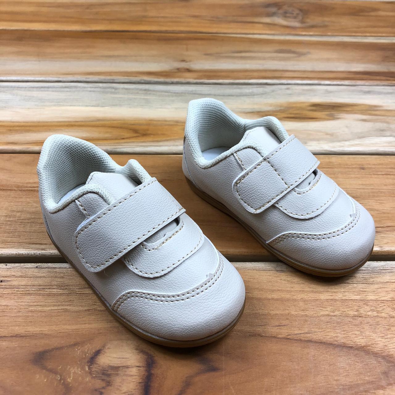 Tênis Bebê Bege de Velcro