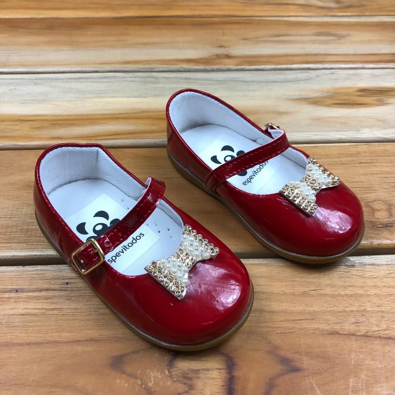 Sapato Vermelho Envernizado