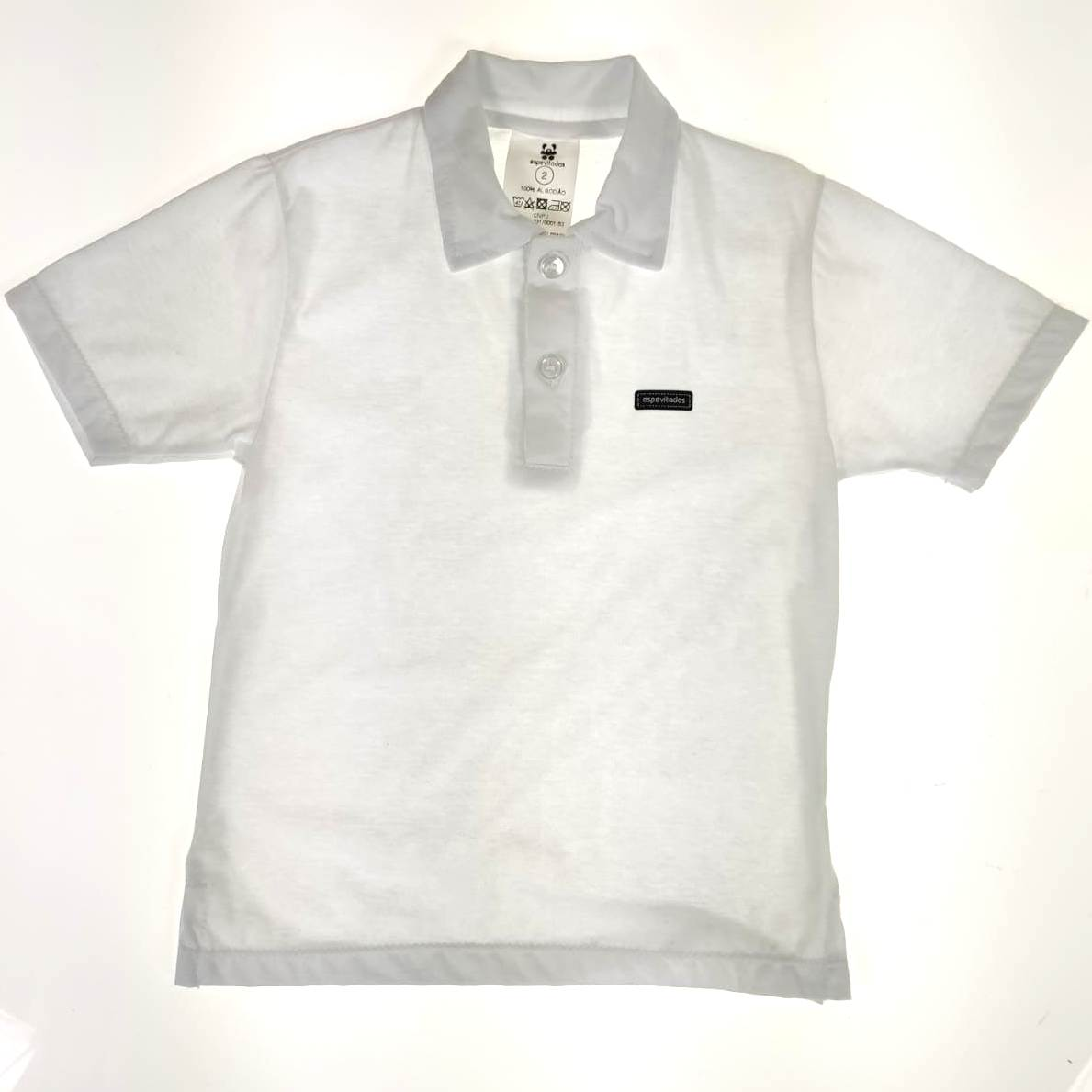 Camisa Curta Bebê Branca Lisa