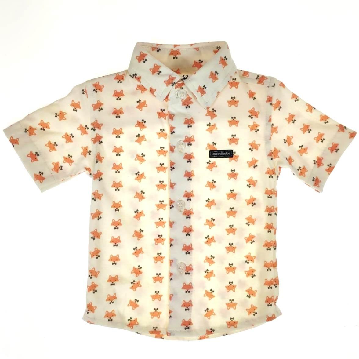 Camisa Curta Cru de Raposinhas