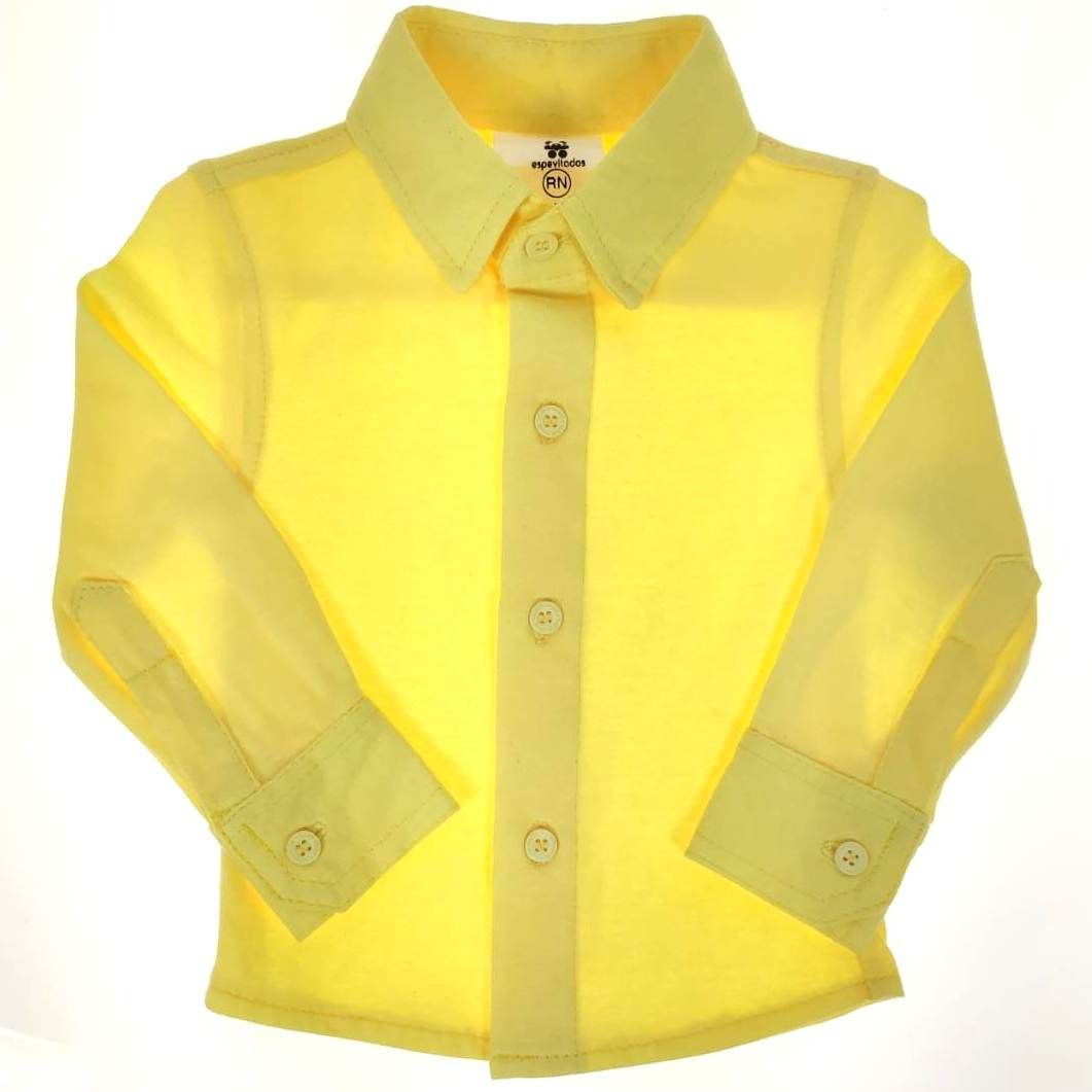 Camisa Longa Amarela Lisa