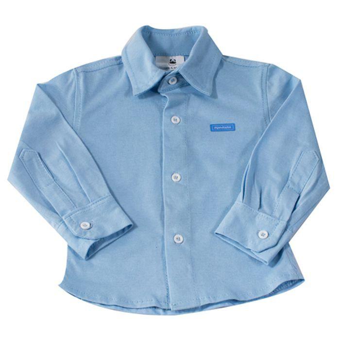 Camisa Longa Azul