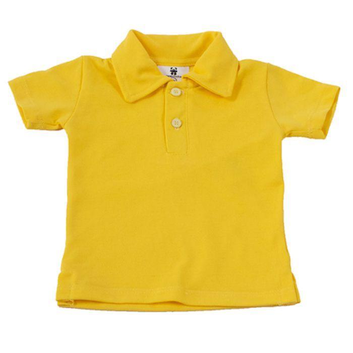 Camisa Polo Bebê Amarela