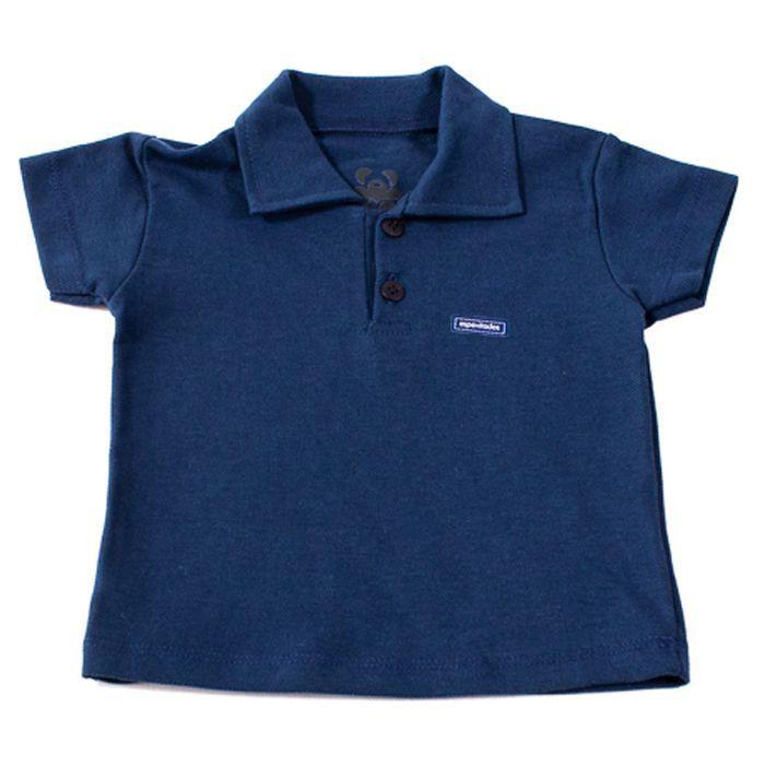 Camisa Polo Baby Azul Marinho