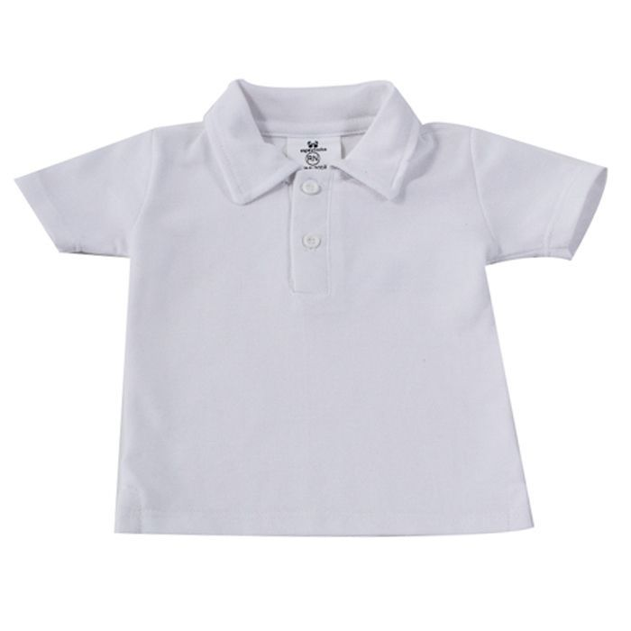 Camisa Polo Baby Branca