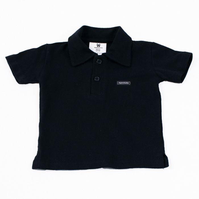 Camisa Polo Bebê Preta