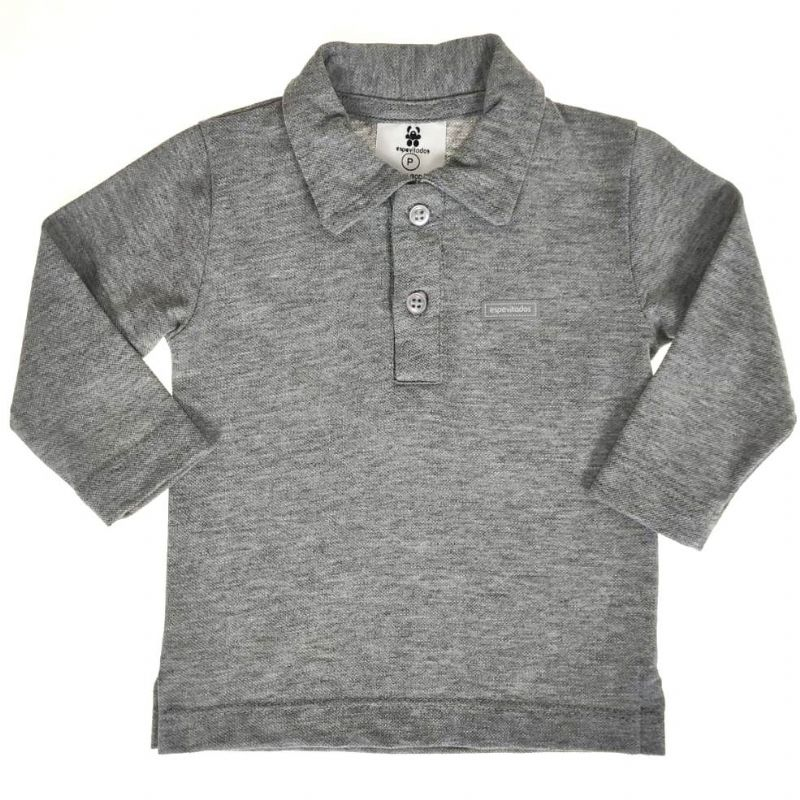 Camisa Polo Infantil Mescla