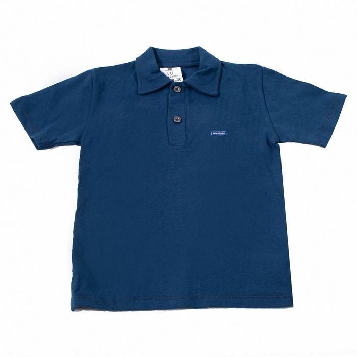 Camisa Polo Infantill Azul