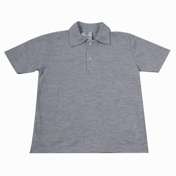 Camisa Polo Kids Cinza