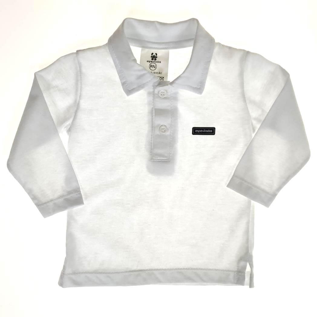 Camisa Polo Longa Branca