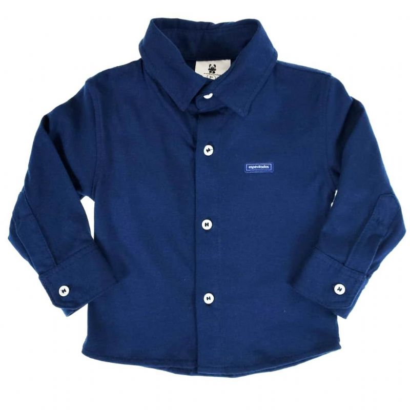 Camisa Social Bebê Azul