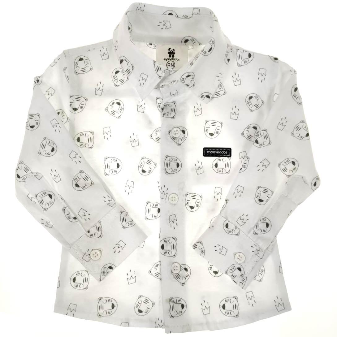 Camisa Social Bebê Branca