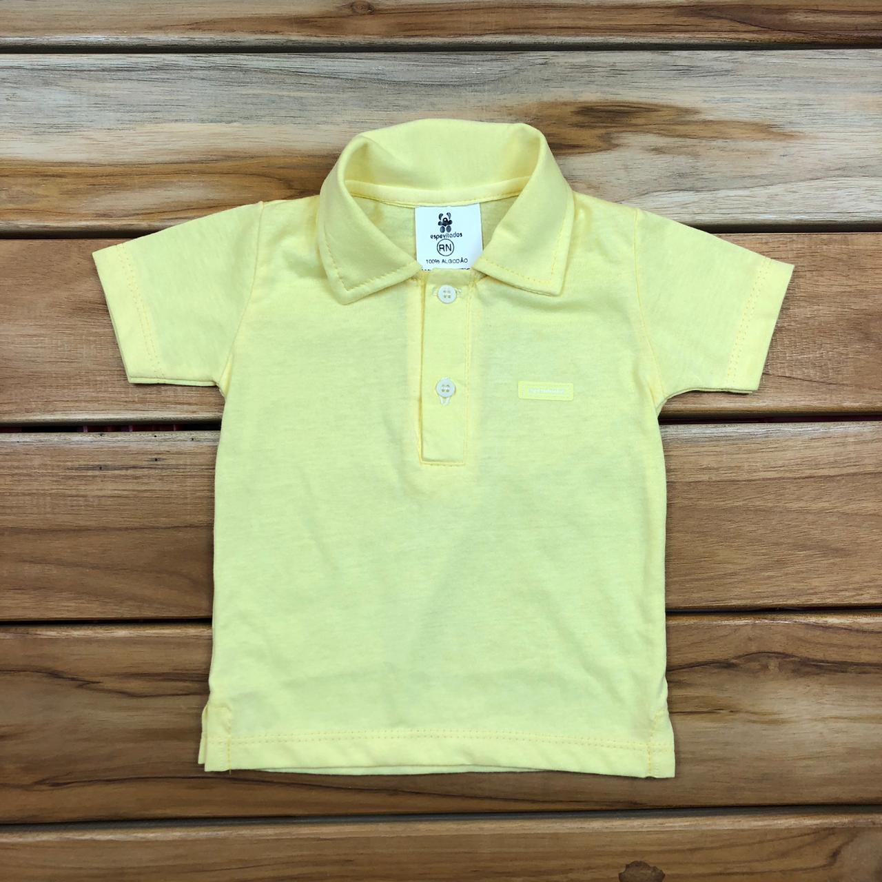 Camiseta Bebê Amarela