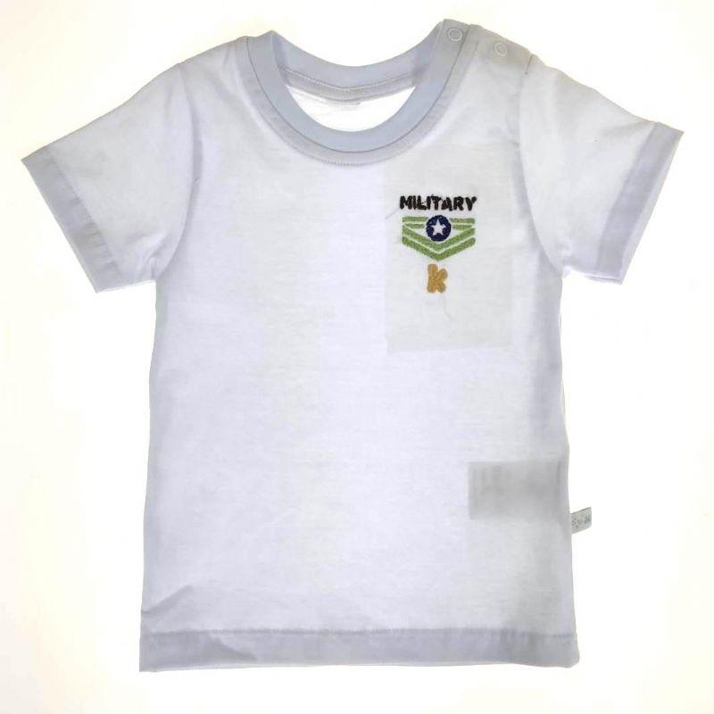 Camiseta Branca Infantil Military