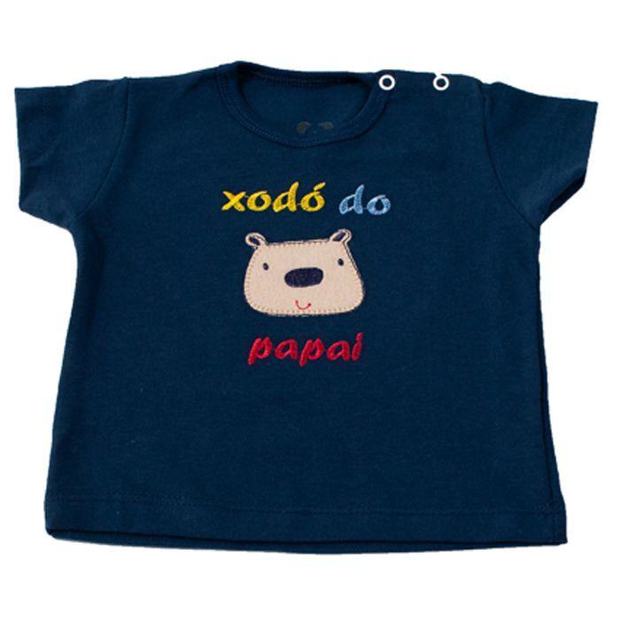 Camiseta Curta Baby Azul Marinho