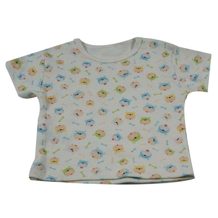 Camiseta Curta Bebê Cru