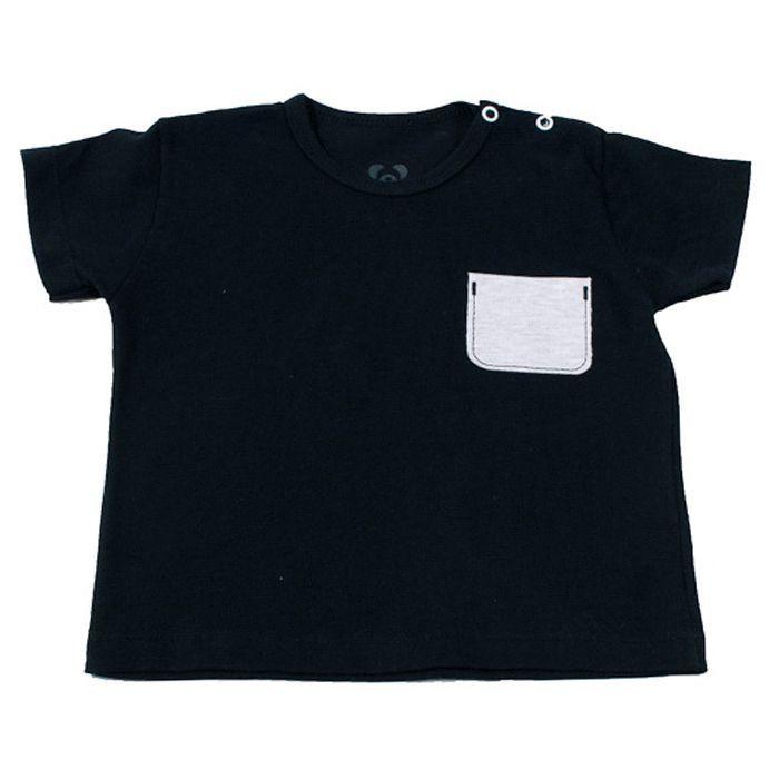 Camiseta Curta Bebê Preta