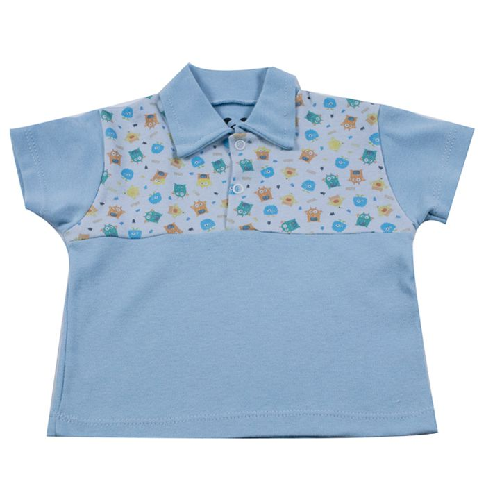 Camiseta Curta Bebê Azul de Alien