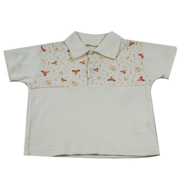 Camiseta Curta Bebê Cru da Raposa