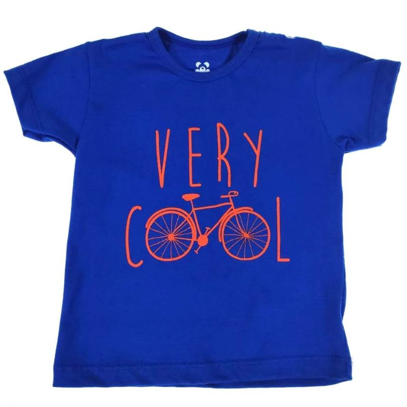 Camiseta Curta Infantil Azul Very Cool