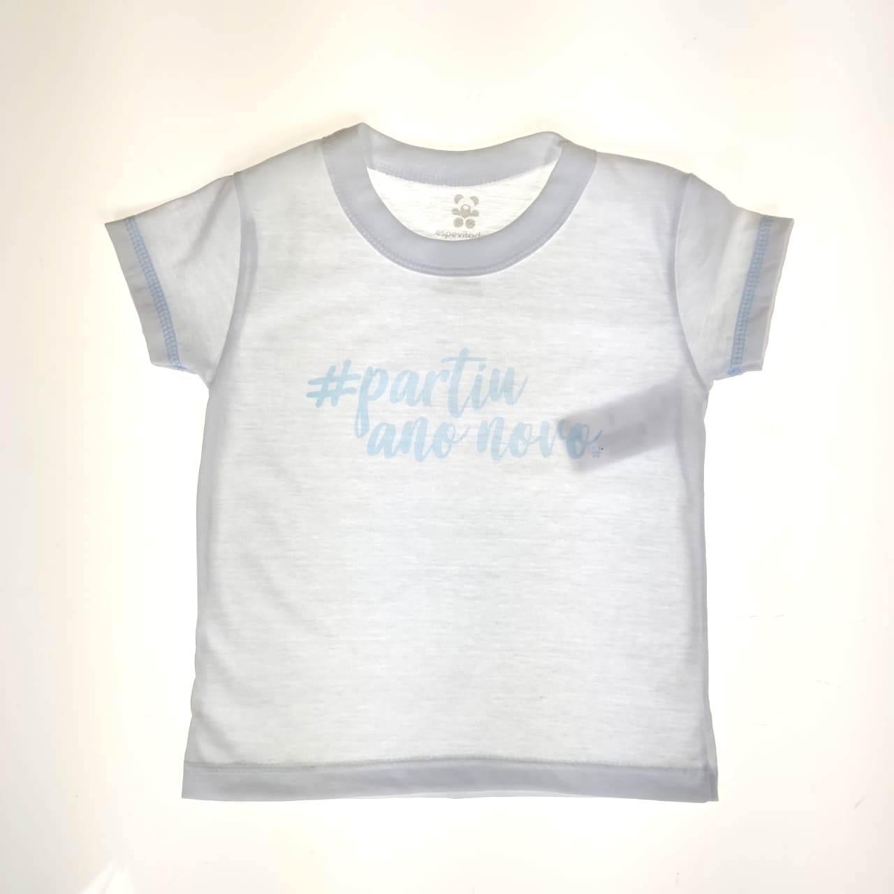 Camiseta Curta Infantil comemorativa do Ano Novo