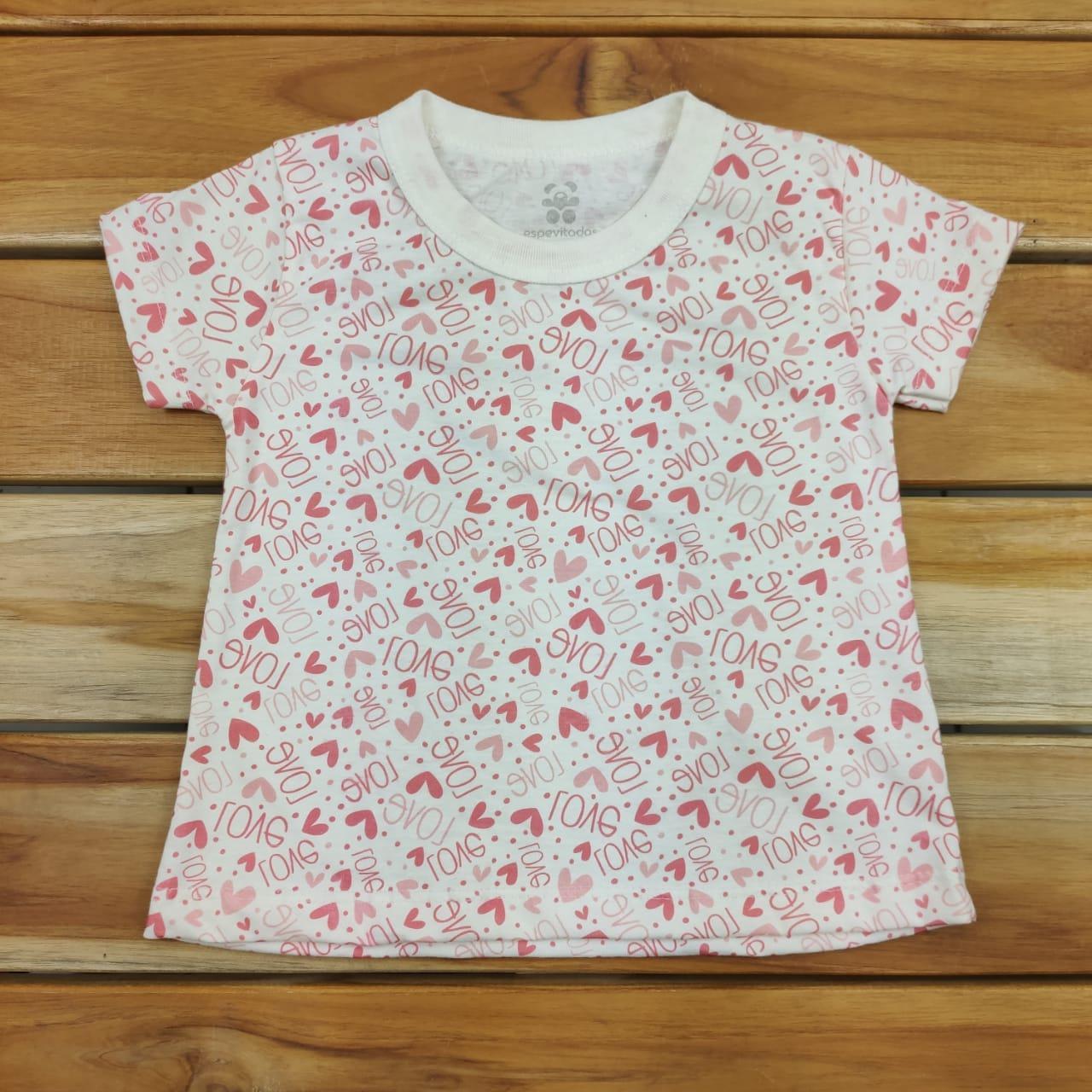Camiseta Curta Infantil Cru Love
