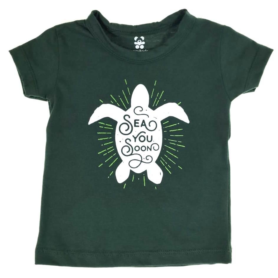 Camiseta Curta Infantil Verde Sea